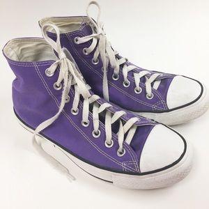 Converse All Stars Purple Chuck Taylor SZ W10 M8